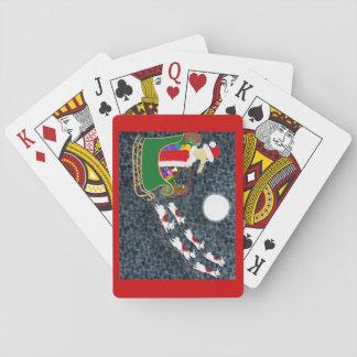 Santa Dachshund Poker Deck