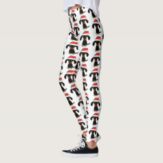 Santa Dachshunds Christmas Pattern Leggings