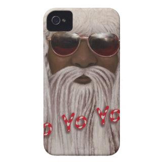 Santa ( dark ) in Dreads -Yo Yo Yo! iPhone 4 Case-Mate Case