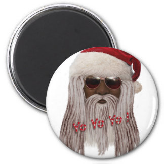 Santa ( dark ) in Dreads -Yo Yo Yo! Magnet