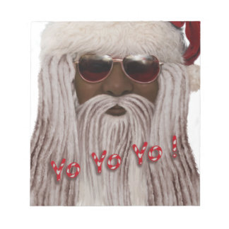 Santa ( dark ) in Dreads -Yo Yo Yo! Notepad