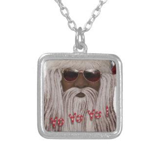 Santa ( dark ) in Dreads -Yo Yo Yo! Silver Plated Necklace