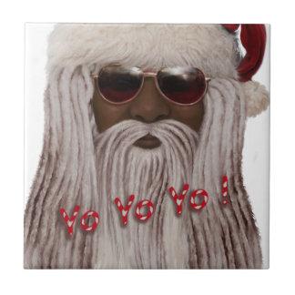 Santa ( dark ) in Dreads -Yo Yo Yo! Tile
