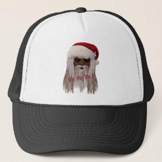 Santa ( dark ) in Dreads -Yo Yo Yo! Trucker Hat