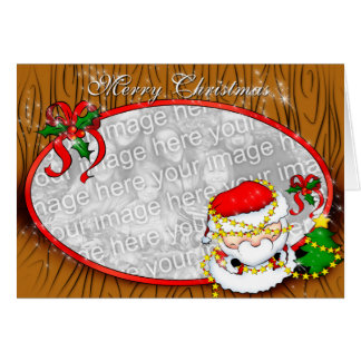Santa Decorating template Card