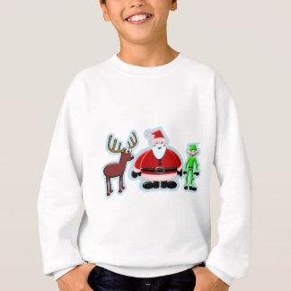 Santa Deer Elf Christmas Design Sweatshirt