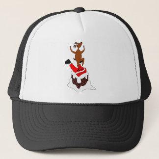 santa deer trucker hat
