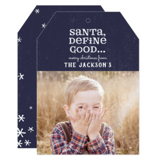 SANTA, DEFINE GOOD CARD