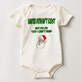 Santa Doesn't Exist Baby Bodysuit