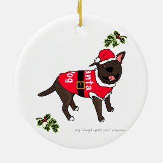 Santa Dog cartoon Ornament