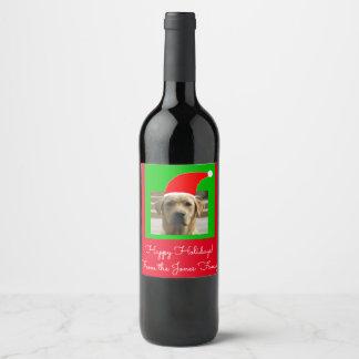Santa Dog Holiday 4Artie Wine Label