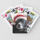 Santa Dog-Labrador Rottweiler Mix Bicycle Playing Cards
