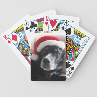 Santa Dog-Labrador Rottweiler Mix Bicycle Playing Cards