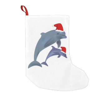 santa dolphins stocking