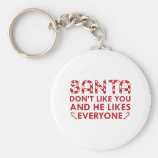 Santa Don't Like You Keychain