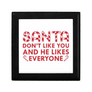 Santa Don't Like You Trinket Boxes