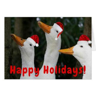 Santa Ducks Funny Holiday Card