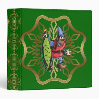 Santa Elf and Green Christmas Ornament Binder
