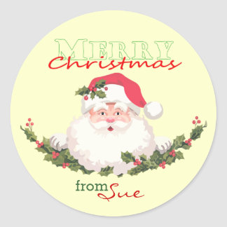 Santa Face Christmas Gift Stickers