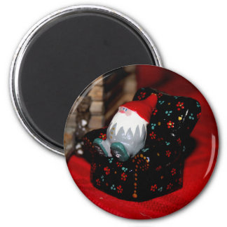 Santa Family 2 Inch Round Magnet