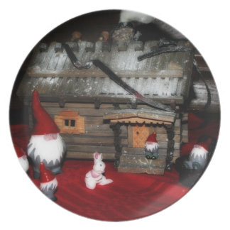 Santa Family Party Plates