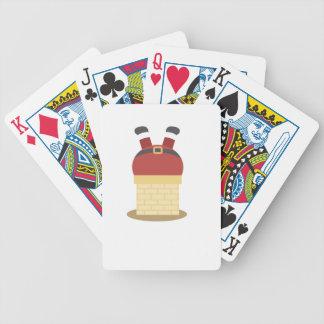 santa fat bicycle playing cards