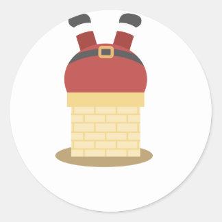 santa fat round sticker