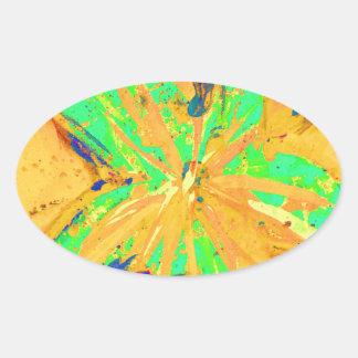 Santa Fe Acid wash yellow Oval Sticker