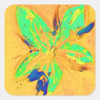 Santa Fe Acid wash yellow Square Sticker
