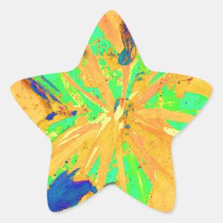 Santa Fe Acid wash yellow Star Sticker