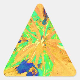 Santa Fe Acid wash yellow Triangle Sticker