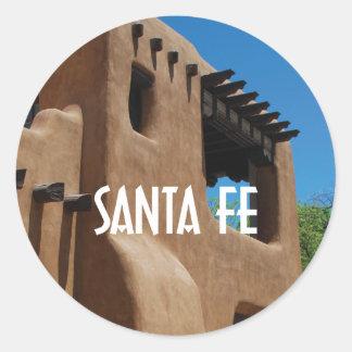 Santa Fe New Mexico adobe Classic Round Sticker