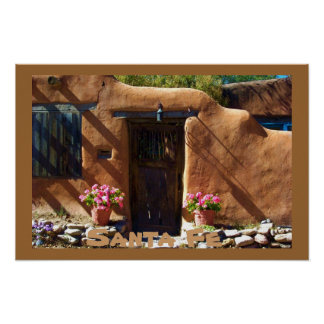 Santa Fe New Mexico Architecture Poster