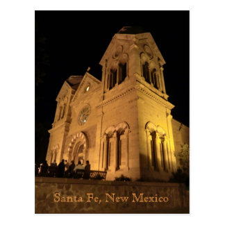 Santa Fe New Mexico St Francis Cathedral Postcard