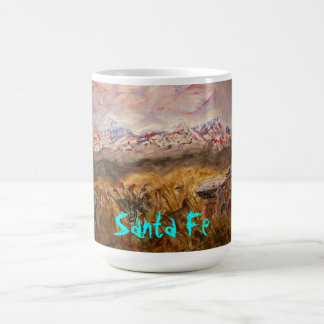 santa fe snow art coffee mug
