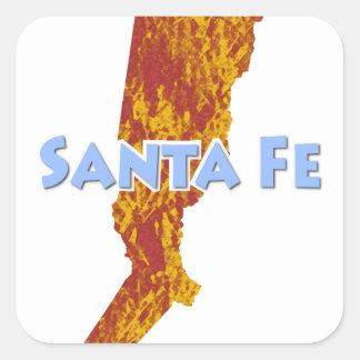 Santa Fe Square Sticker