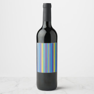 Santa fe stripes wine label