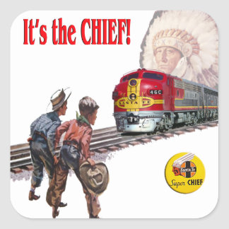 Santa Fe Super Chief Train Stickers