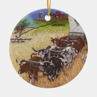Santa Fe Trail Ceramic Ornament