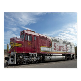 Santa Fe Train Postcard