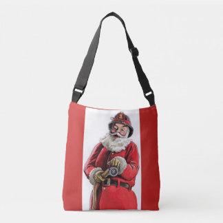 Santa fireman purse crossbody bag