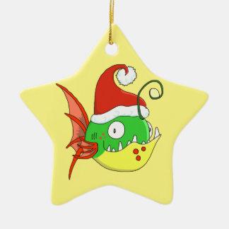 Santa Fishy Ornament - Add Your Own Message!