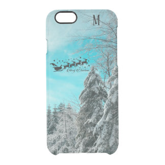 Santa Flying Christmas Special Gifts Holidays New Clear iPhone 6/6S Case
