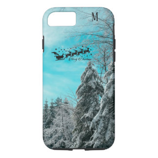 Santa Flying Christmas Special Gifts Holidays New iPhone 8/7 Case