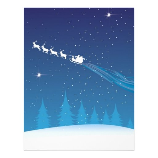 santa flying letterhead