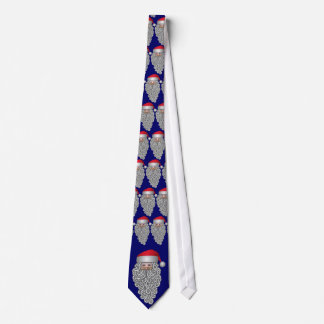 santa folk art father christmas in hat tie