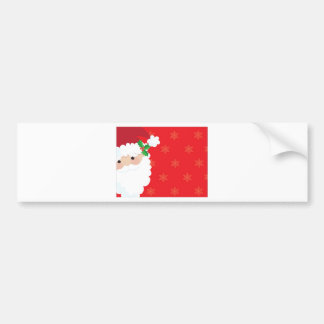 Santa Frame Bumper Sticker