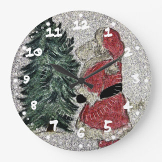 Santa Fresco Large Clock