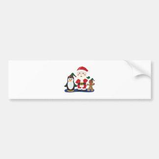 Santa & Friends Bumper Sticker