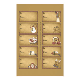 Santa & Friends Gift Tags on a Sheet - 10 Designs Flyer